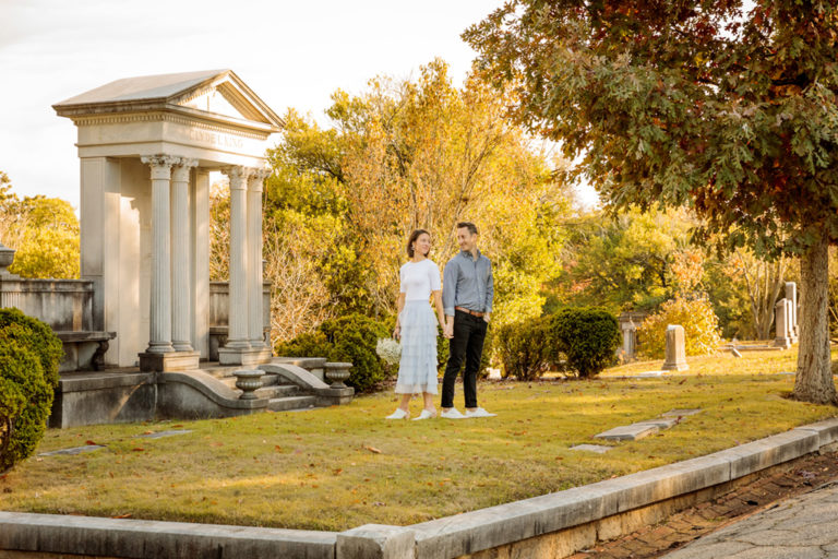 Elopement Portraits at Oakland Cemetery and Grant Park