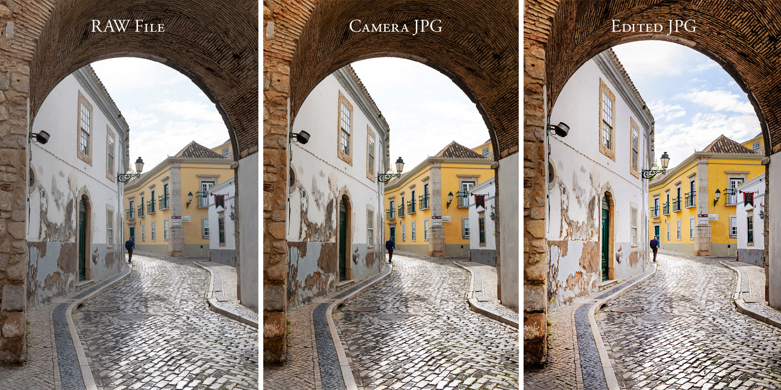 RAW vs JPG file example